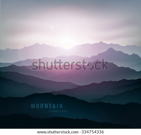 dark blue mountain landscape