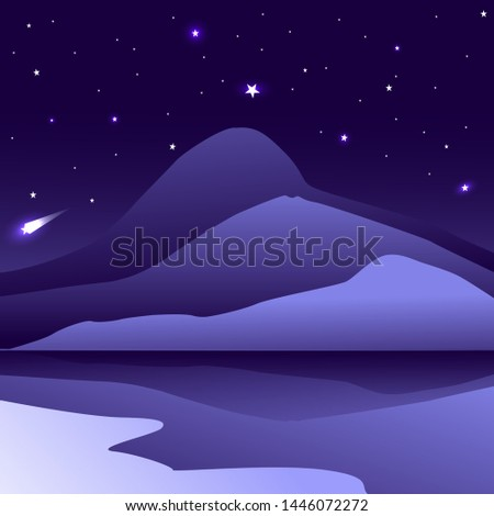 dark blue mountain with
