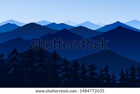 dark blue mountains amazing