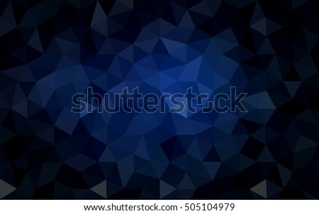 Stock Photo Dark blue polygonal illustration, which consist of triangles. Geometric background in Origami style with gradient. Triangular design for your business.