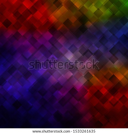Dark Blue, Red vector background in polygonal style. Rectangles with colorful gradient on abstract background. Pattern for commercials, ads.