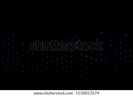 Dark Blue, Red vector background with dollar, USD, usa. Shining colored illustration with dollar, USD, usa signs. Smart design for your business advert of economic, wealth.