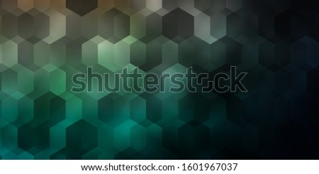 Dark Blue, Red vector background with hexagons. Colorful hexagons on blur backdrop. Pattern for landing pages.