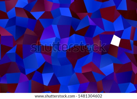 Dark Blue, Red vector background with rectangles. Rectangles on abstract background with colorful gradient. Modern template for your landing page.
