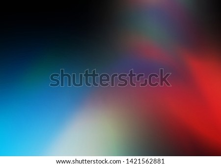 Dark Blue, Red vector blurred shine abstract template. Glitter abstract illustration with an elegant design. The elegant pattern for brand book.