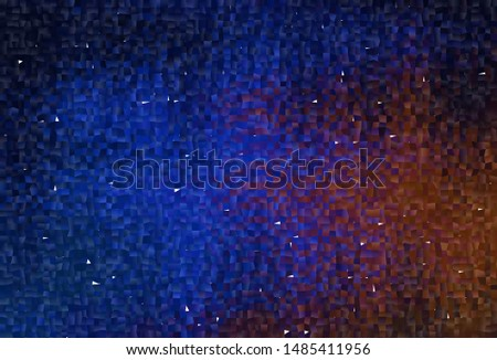 Dark Blue, Red vector layout with lines, rectangles. Rectangles on abstract background with colorful gradient. Pattern can be used for websites.