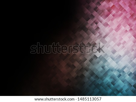 Dark Blue, Red vector template with crystals, rectangles. Rectangles on abstract background with colorful gradient. Best design for your ad, poster, banner.