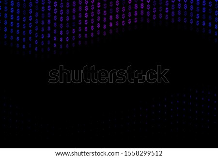 Dark Blue, Red vector template with dollar, USD, usa. Illustration with dollar, USD, usa signs on white template. Smart design for your business advert of economic, wealth.