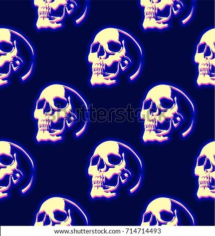 dark blue seamless pattern with