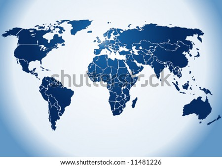 world map vector. silhouette World map,