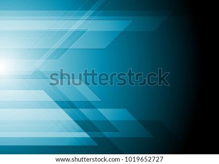Dark blue technology geometric background. Vector graphic design