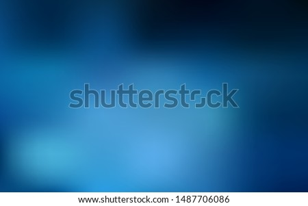 Dark BLUE vector abstract blurred background. Creative illustration in halftone style with gradient. Completely new design for your business.