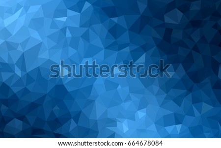 DARK BLUE vector abstract textured polygonal background. Blurry triangle design. Pattern can be used for background.