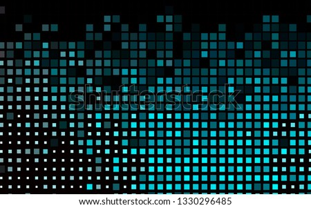 Dark BLUE vector backdrop with rectangles, squares. Rectangles on abstract background with colorful gradient. Pattern can be used for websites.