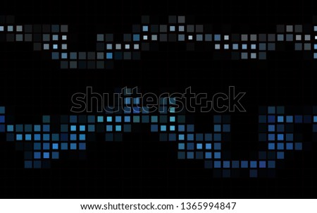 Dark BLUE vector backdrop with rectangles, squares. Rectangles on abstract background with colorful gradient. Modern template for your landing page.