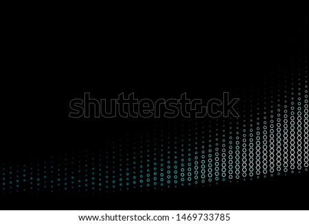Dark BLUE vector background with hexagons. Colorful hexagons on abstract backdrop. Pattern can for your ad, booklets.