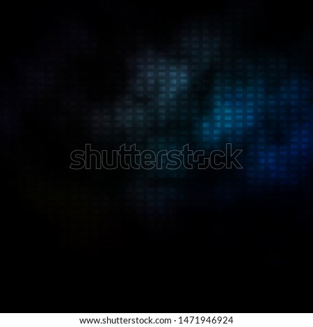 Dark BLUE vector background with rectangles. Colorful illustration with gradient rectangles and squares. Pattern for commercials, ads.