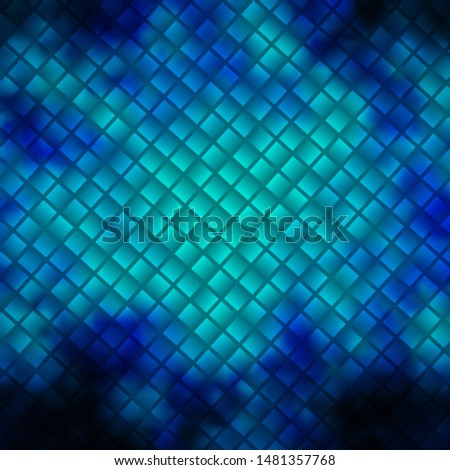 Dark BLUE vector background with rectangles. Modern design with rectangles in abstract style. Pattern for commercials, ads.
