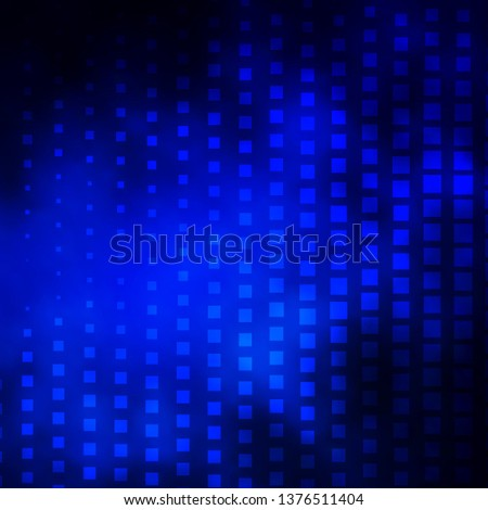 Dark BLUE vector background with rectangles. Rectangles with colorful gradient on abstract background. Design for your business promotion.