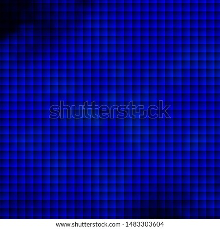 Dark BLUE vector background with rectangles. Rectangles with colorful gradient on abstract background. Pattern for commercials, ads.