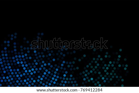 dark blue vector banner with