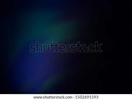 Dark BLUE vector blurred shine abstract template. Shining colorful illustration in a Brand new style. Brand new style for your business design.