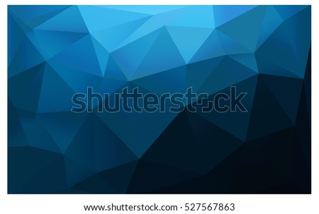 DARK BLUE vector blurry triangle background design. Geometric background in Origami style with gradient.