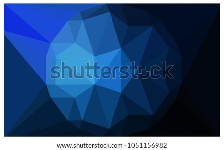 dark blue vector diamond