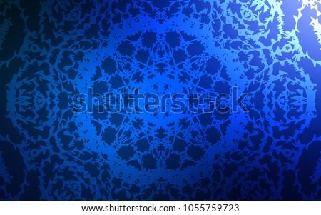 dark blue vector doodle blurred