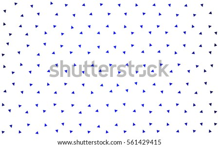 DARK BLUE vector geometric simple minimalistic background, which consist of triangles on white background. Triangular pattern with gradient for your business design.