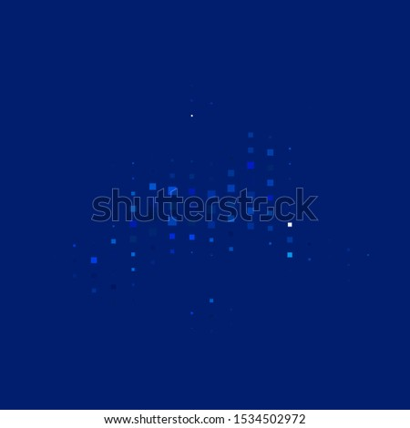 Dark BLUE vector layout with lines, rectangles. Modern design with rectangles in abstract style. Pattern for commercials, ads.
