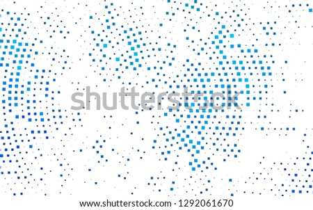 Dark BLUE vector layout with lines, rectangles. Rectangles on abstract background with colorful gradient. The template can be used as a background.