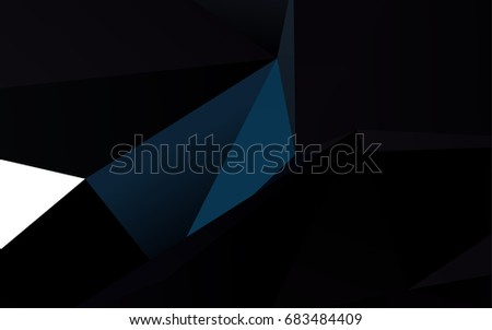 dark blue vector low poly