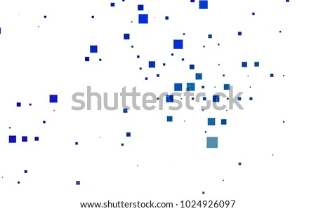 Dark BLUE vector modern geometrical background. Abstract template. Geometric pattern in square style with gradient.