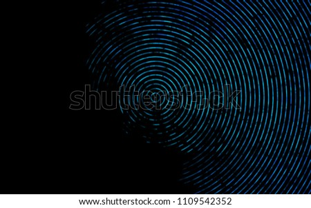 Dark BLUE vector pattern with curved circles. Blurred geometric sample with gradient bubbles.  Marble design for your web site.