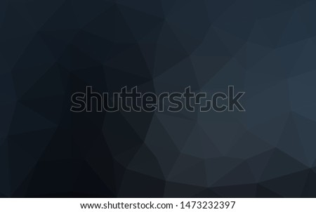 Dark BLUE vector polygon abstract background. A sample with polygonal shapes. Polygonal design for your web site.