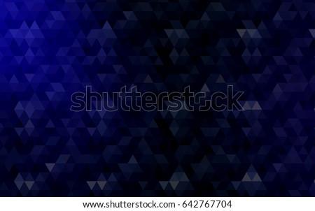 dark blue vector polygon