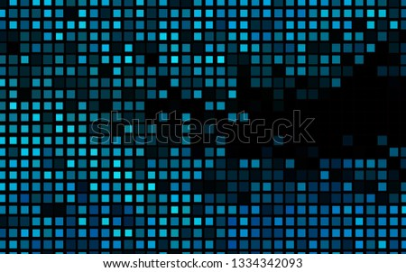 Dark BLUE vector template with crystals, rectangles. Rectangles on abstract background with colorful gradient. Smart design for your business advert.