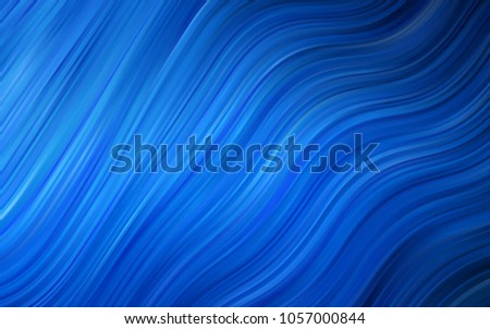 Dark BLUE vector template with lava shapes. A sample with blurred bubble shapes. The best blurred design for your business.
