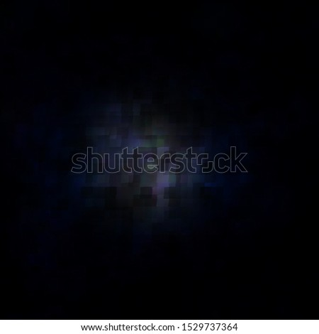 Dark BLUE vector template with rectangles. New abstract illustration with rectangular shapes. Pattern for commercials, ads.