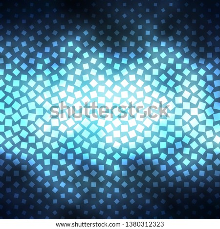 Dark BLUE vector template with rectangles. Rectangles with colorful gradient on abstract background. Pattern for websites, landing pages.