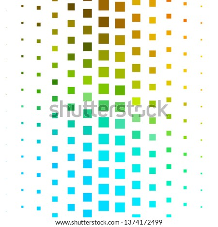 Dark Blue, Yellow vector backdrop with rectangles. Rectangles with colorful gradient on abstract background. Pattern for websites, landing pages.