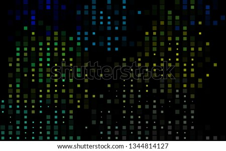Dark Blue, Yellow vector backdrop with rectangles, squares. Rectangles on abstract background with colorful gradient. The template can be used as a background.