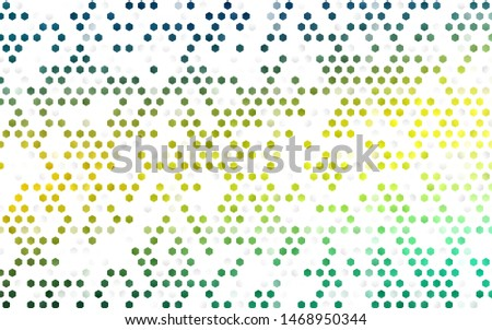Dark Blue, Yellow vector background with hexagons. Colorful hexagons on white backdrop. Pattern can be used for landing pages.
