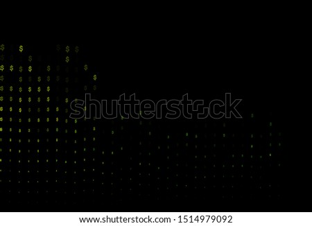 Dark Blue, Yellow vector pattern with dollar, USD, usa. Illustration with dollar, USD, usa signs on white template. Best design for your ad, poster, banner of money.