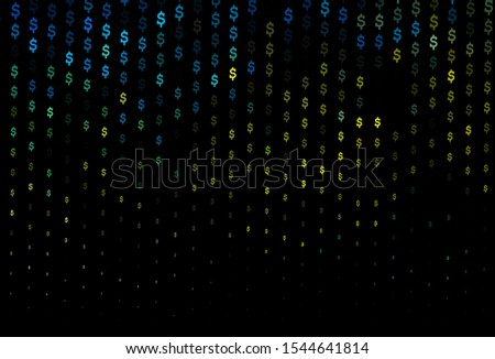 Dark Blue, Yellow vector template with dollar, USD, usa. Illustration with dollar, USD, usa signs on white template. Best design for your ad, poster, banner of money.