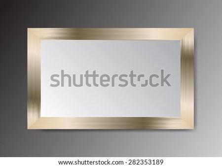 dark bronze gold frame vector