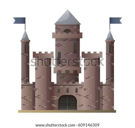 dark brown cartoon medieval
