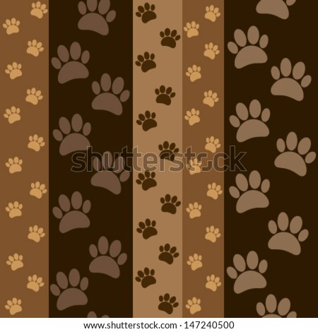 dark brown paws seamless pattern