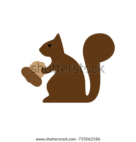 dark brown sitting squirrel